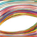 Der Regenbogen-gekrümmten Linien der abstrakten Kunst bunter Hintergrund Lizenzfreie Stockbilder