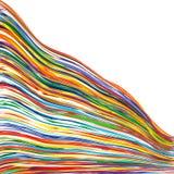 Der Regenbogen-gekrümmten Linien der abstrakten Kunst bunter Hintergrund Lizenzfreies Stockfoto