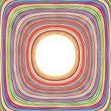 Der Regenbogen-gekrümmten Linien der abstrakten Kunst bunter Hintergrund Stockfotografie