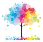 Der Regenbogenbaum stock abbildung