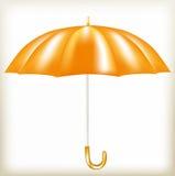 Der Regenschirm der orange Farbe Stockfotografie