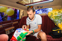 Der Rennläufer von Messina Vincenzo Nibali stockfotos