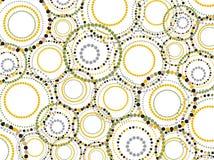 Der Retro- punktierte Spaß kreist Muster ein Stockfoto
