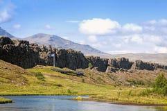 Der Reykjanes Ridge, Island stockbild