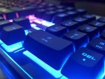 Der RGB auf einer Tastatur Lizenzfreies Stockbild