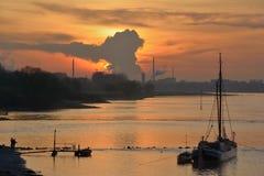 Der Rhein, Rheinland, Deutschland Stockfotos