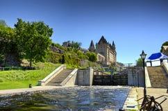 Der Rideau-Kanal in Ottawa lizenzfreie stockbilder