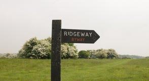 Der Ridgeway National Trail Großbritannien lizenzfreie stockbilder