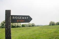 Der Ridgeway National Trail Großbritannien lizenzfreies stockfoto