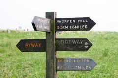 Der Ridgeway National Trail Großbritannien stockfotos
