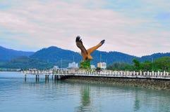 Der riesige Adlerstatus in Langkawi-Insel Stockfotos