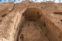 Der riesige Buddha in bamiyan - Afghanistan Lizenzfreies Stockfoto