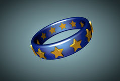 Der Ring der Europäischen Gemeinschaft stockfotografie