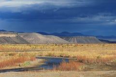 Der Rio Grande, Neuquen, Argentinien Stockbilder