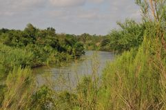 Der Rio Grande in unterem Rio Grande Valley, Texas stockbild