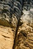 Der Riss in den Felsen Stockbild