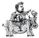 Der Ritter mit Bier (Vektor) Stockfotografie