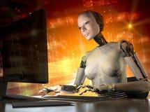 Der Roboter stock abbildung