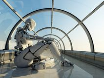 Der Roboter lizenzfreie abbildung