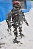Der Roboter von den Maschinenteilen stockfoto