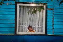 Der Rom-Lager Zigeuner Tabor von Vilnius Stockfotos