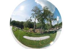 Der romantischste Landschaftsparkgarten Stockfotos