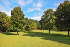 Der romantischste Landschaftsparkgarten in Italien Lizenzfreie Stockfotos