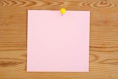 Der rosa quadratische Leerbeleg Stockfotos