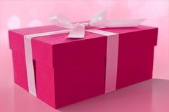 Der rosafarbene Kasten Stockfotografie