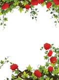 Der Rosenrahmen - Grenze - Schablone - mit Rosen - Valentinsgrüße - Märchen - Illustration für die Kinder Lizenzfreie Stockfotografie