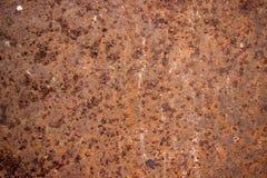 Der Rosthintergrund auf dem Stahl ist für eine lange Zeit benutzt worden Lizenzfreies Stockbild
