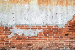 Der rote alte Backsteinmauerhintergrund Lizenzfreies Stockbild
