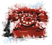 Der rote Anruf Stockfoto