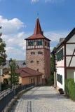 Der rote Kontrollturm Foto de archivo