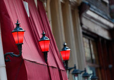 Der rote Leuchte-Bezirk in Amsterdam Lizenzfreies Stockbild