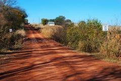 Der rote Schmutz von Oklahoma stockbild