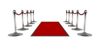 Der rote Teppich Stockfotografie