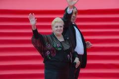 Der rote Teppich des MIFF 38 - Eröffnung des Festivals Lizenzfreie Stockfotografie