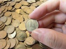 Der Rubel kommt Stockbild