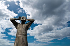 Der Rufer Statue, Berlin Stockbild
