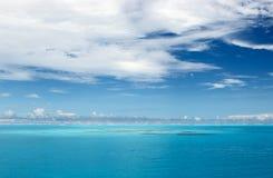 Der ruhige Indische Ozean Stockfotos