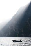 Der ruhige Morgen auf dem See Lizenzfreies Stockfoto