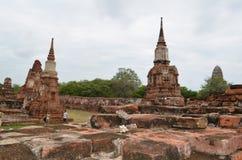 Der Ruinentempel in Thailand Lizenzfreies Stockfoto