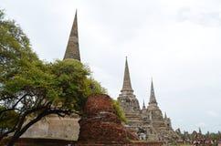 Der Ruinentempel in Thailand Stockfotos