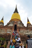 Der Ruinetempel im ayutthaya Lizenzfreie Stockfotos