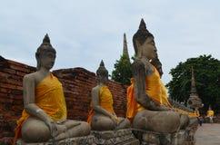 Der Ruinetempel im ayutthaya Lizenzfreies Stockfoto