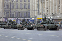 Der russische HauptT-90 panzer Stockbilder
