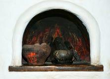 Der russische Ofen lizenzfreies stockbild
