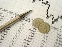 Der russische Rubel und die Finanzierung Lizenzfreies Stockfoto