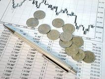 Der russische Rubel und die Finanzierung Lizenzfreies Stockbild